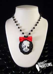 Day of the Dead Girl Silhouette Framed Necklace 630 FR