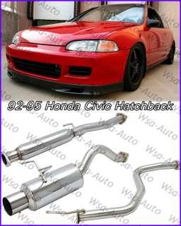 92 95 Honda Civic JDM N1 Catback Exhaust Muffler 3Dr HB