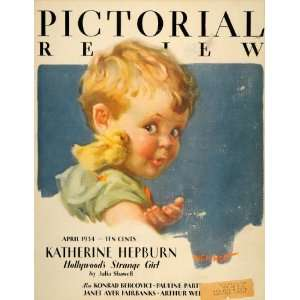 1934 Cover Adorable Baby Girl Child Duckling Nell Hott