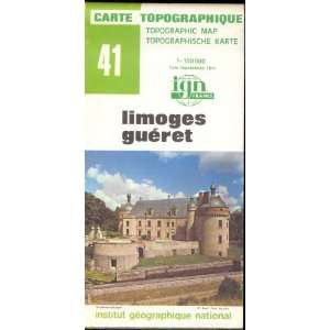 Map 41 France Limoges Gueret Carte Topographique: none: Books
