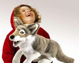 Folkmanis Puppets Gray WOLF Plush Hand Puppet ~NEW~
