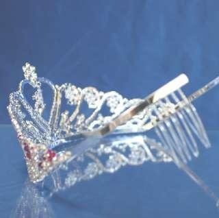 Quinceanera 15 Birthday Tiara Crystal Princess 5204F7