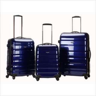 Rockland 3 Piece Atlantis Polycarbonate/ABS Luggage Set Grey F140 GREY