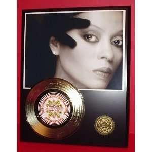 Diana Ross 24kt Gold Record LTD Edition Display ***FREE