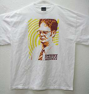 The Office DWIGHT SCHRUTE IS MY SENSE T Shirt White Size XL