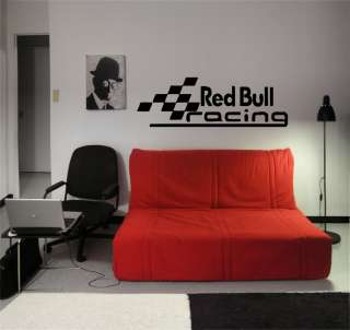 RED BULL RACING SYMBOL LOGO CAR WALL ART VINYL STICKER DECAL MURAL