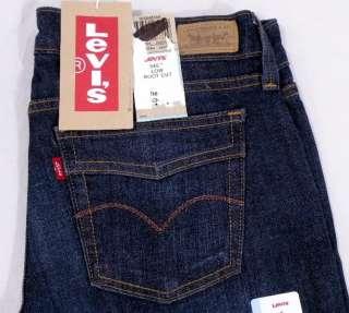 NEW Levis Womens 545 Slim Bootcut Dark Blue Gold Stitch