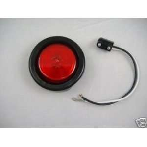 Red Incandescent 2 Round Truck Trailer Side Marker Clearance Light