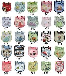 5p new baby toddler infant bibs for girl boy pick in 25
