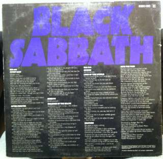 BLACK SABBATH master of reality LP 6360 050 German 1971