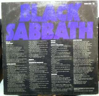 BLACK SABBATH master of reality LP 6360 050 German 1971