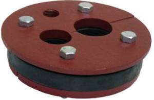 Water Source 6x1.25x1 Two hole Cast Iron Well Seal