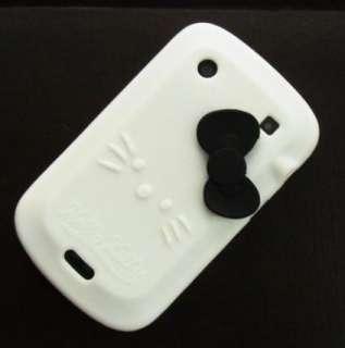 White Hello Kitty Silicone Case Cover For Blackberry Bold 9900 au
