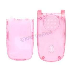 Clear Pink Faceplate w/ Battery Cover for Sanyo SCP 200