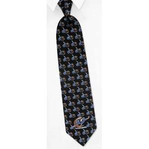 NBA Washington Wizards Logos black silk Tie