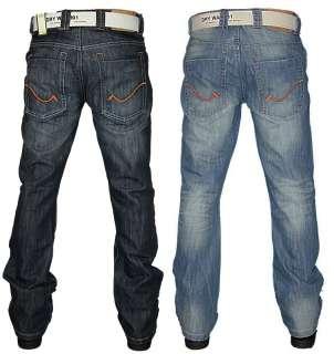 NEW MENS DRY WASH SH 836 DESIGNER STRAIGHT LEG BOOT CUT DENIM JEANS