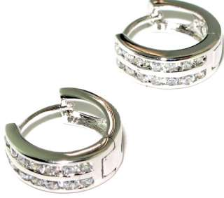 Latest collection fabulous white topaz .925 STERLING SILVER Earrings 0