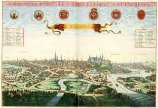 Cracovia Krakow Poloniae Poland by Johannes Janssonius Antique