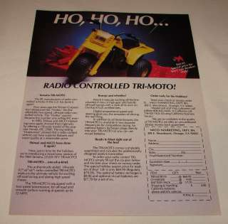 1984 MiCO r/c motorcycle ad page ~ YAMAHA TRI MOTO