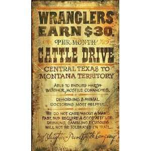 Customizable Large Wranglers Cattle Drive Vintage Style
