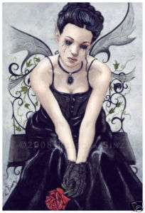 Gothic Fairy Fantasy Art LARGE SIZE PRINT rose victorian