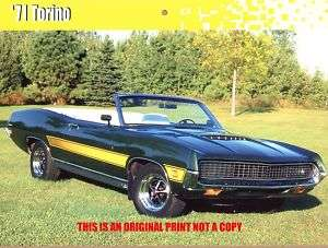 1971 Ford Torino GT Convertible muscle car print