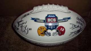 2011 ALABAMA CRIMSON ROLL TIDE team signed BCS CHAMPIONSHIP Football