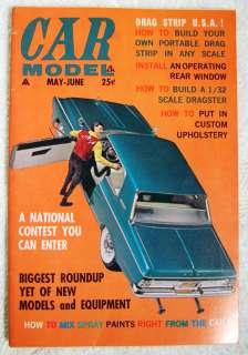 CAR MODEL MAGAZINE Vol 1 No 6 Slot Cars Model Kit AMT Weird Ohs