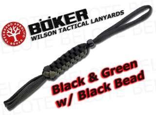 Boker Wilson Tactical BLACK & GREEN Lanyard 09WT003 NEW