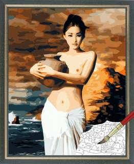 Acrylic Paint by Number kit 50x40cm (20x16) Girl DIY Painting PH7092