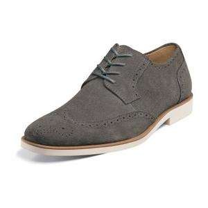 Stacy Adams Telford Mens Dress Shoes 24723 Grey Suede All Sizes