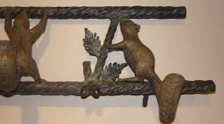 Maitland Smith Brass Squirrel Wall Coat Hanger