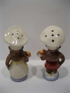 RARE Old Black Americana   African American Chef Salt & Pepper Shakers