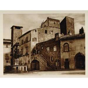1925 Fountain Piazza del Gesu Viterbo Italy Hielscher