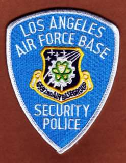 LOS ANGELES AIR FORCE BASE SECURITY POLICE   PATCH