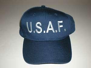 USAF U.S.A.F United States Air Force Logo Navy Blue Adjustable Hat Cap