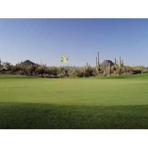 Golf Flag in a Golf Course, Troon North Golf Club, Scottsdale