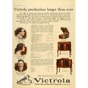 1924 Ad Victor Nipper Talking Machine Victrola Radio Coates Samaroff