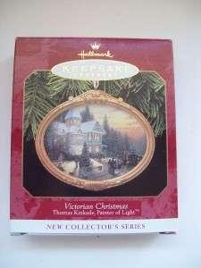 HALLMARK KEEPSAKE ORNAMENT Thomas Kinkade Victorian Christmas 1997 MIB
