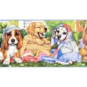 Playful Puppies Wallpaper Border: Home Improvement