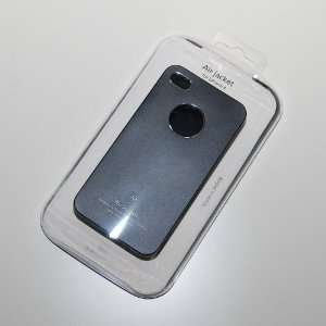 Air jacket Black Metal Back Cover Case for iPhone 4/4S
