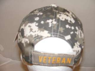 USMC Marine Corps Marines Digital Camo VETERAN VET HAT CAP