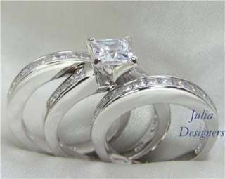 His Hers Engagement Wedding Ring Set, (Women Size 4)