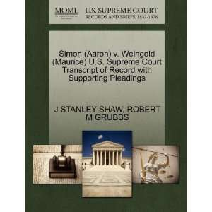 Pleadings (9781270618966): J STANLEY SHAW, ROBERT M GRUBBS: Books