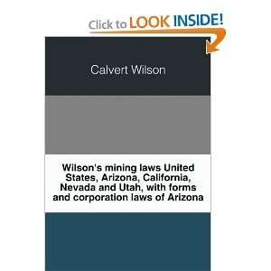 laws  United States, Arizona, California, Nevada and Utah, with forms