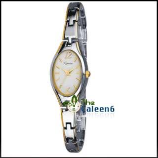 Gold Charm Ladies Man Leather Quartz Watch Luxury Brown W9907