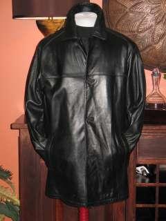 695.ANDREW MARC LUXURY BLACK LEATHER JACKET COAT MED
