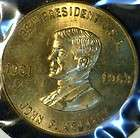 1963 John F Kennedy JFK MINT Commemorative Bronze Medal   Token