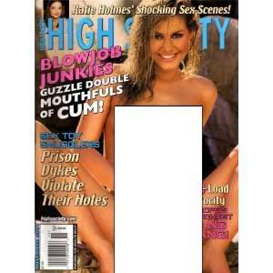High Society Magazine November 2001 Katie Holmes High Society Books