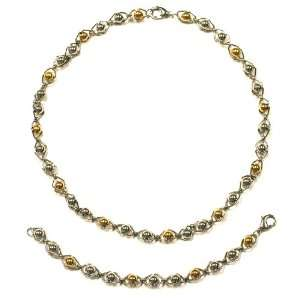 Womens Stainless Steel Two Tone of Steel and Gold Tone